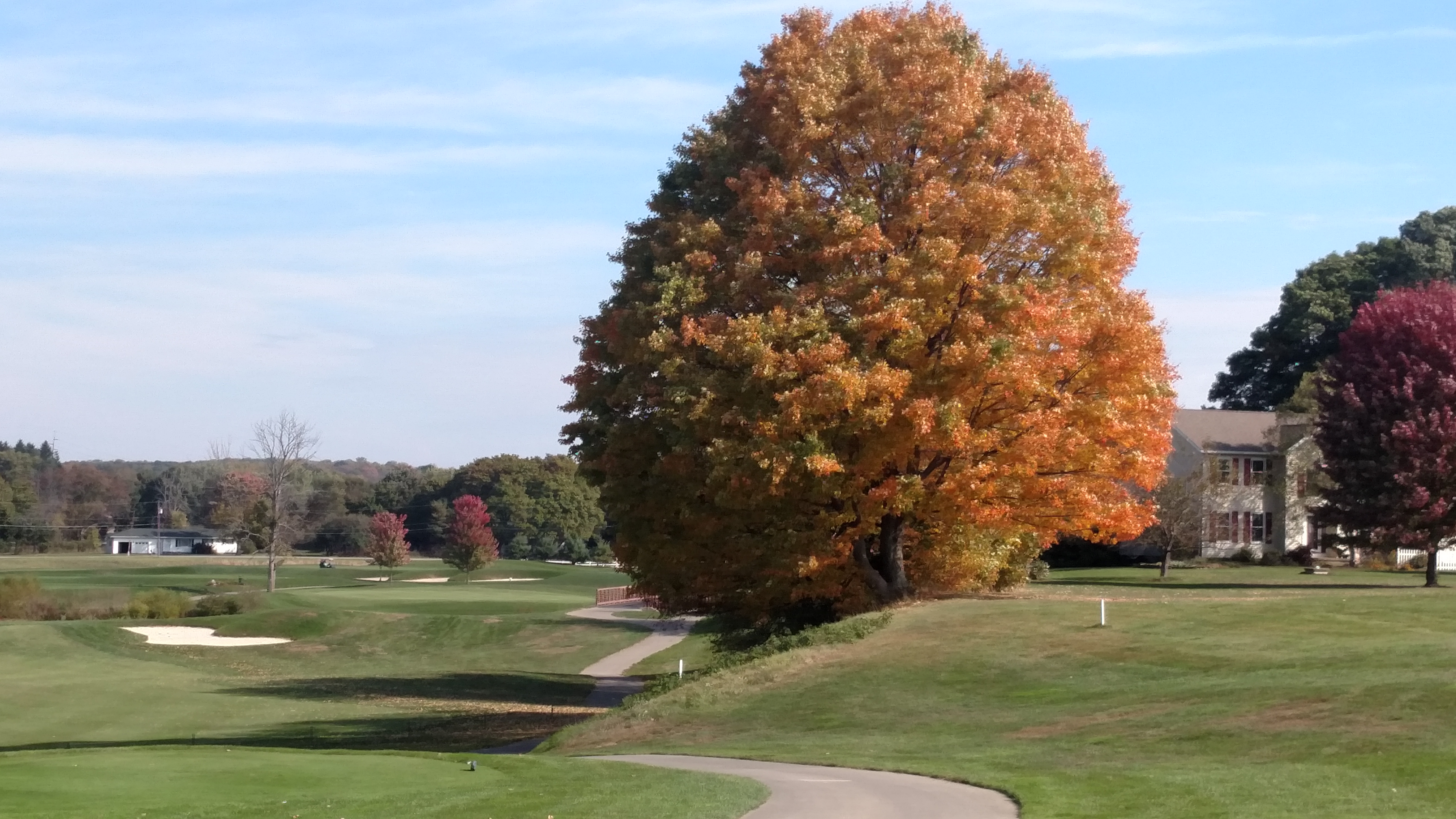 Picture from the tee box on #10 at Shale Creek CC in late October.